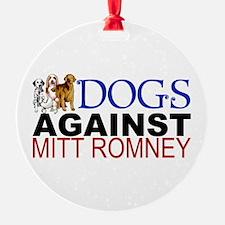Dogs Against Mitt Romney Ornament