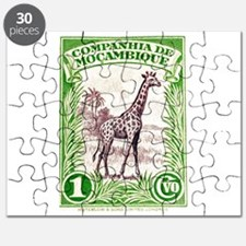 Mozambique Giraffe 1937 African Postage Stamp Puzz