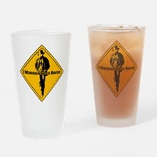 Cute Save horse ride cowboy Drinking Glass