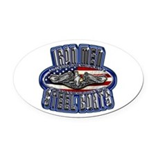 US Navy Submarine Service Iron Men Oval Car Magnet