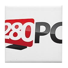 280 PC Logo Tile Coaster