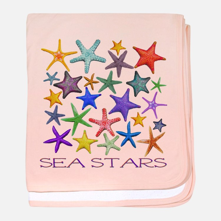 Sea Stars baby blanket