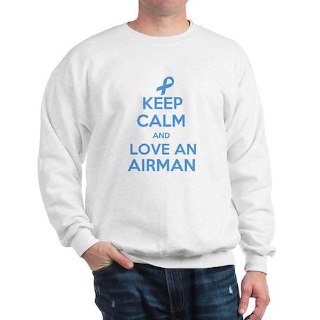Keep Calm and Love an Airman Sweatshirt