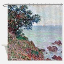 Claude Monet Mediterranean Coast Shower Curtain