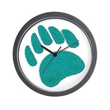 DIMPLED GREEN BEAR PAW Wall Clock