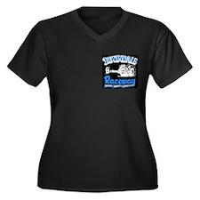 Irwindale Raceway Women's Plus Size V-Neck T