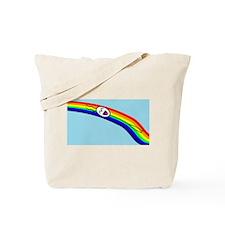 Sliding down a Rainbow Tote Bag