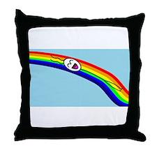 Sliding down a Rainbow Throw Pillow