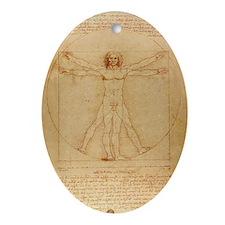 The Vitruvian Man Ornament (Oval)