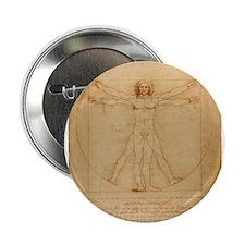 "The Vitruvian Man 2.25"" Button (10 pack)"