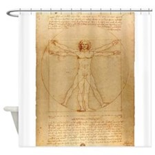 The Vitruvian Man Shower Curtain