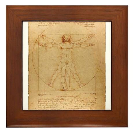 The Vitruvian Man Framed Tile