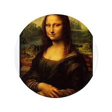"""Mona Lisa - Leonardo da Vinci 3.5"""" Button"""
