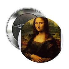 """Mona Lisa - Leonardo da Vinci 2.25"""" Button"""