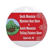 South Mountain myotonic goat shows Ornament (Round