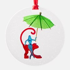 Cocktail Mermaid Monkey Ornament