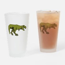 T rex 4 Drinking Glass