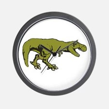 T rex 4 Wall Clock