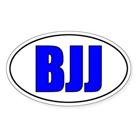 BJJ - Blue Belt Sticker (Oval)