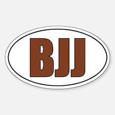 BJJ - Brown Belt Sticker (Oval)