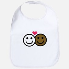 Interracial Love Bib