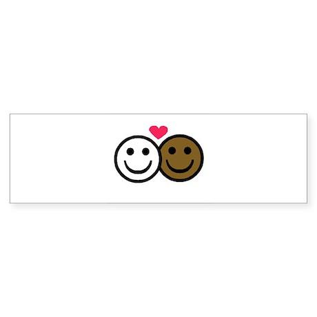 Interracial Love Bumper Sticker