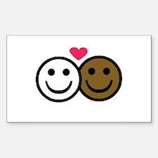 Interracial Love Rectangle Decal