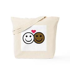 Interracial Love Tote Bag