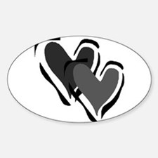 Interracial Love Oval Decal