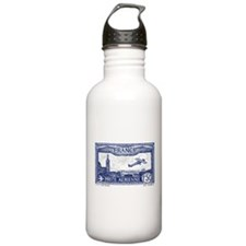 French 1930 Airmail Postage Stamp Water Bottle