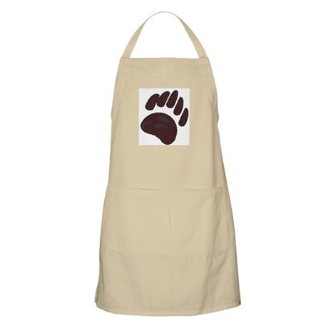DIMPLED BROWN BEAR PAW BBQ Apron