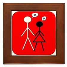Interracial Love Framed Tile