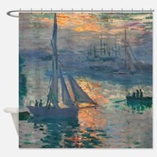 Monet - Sunrise Marine Shower Curtain