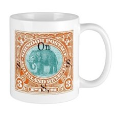 Sirmoor India Elephant Stamp 1894 Mug