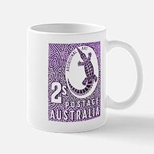 Australia Aboriginal Art Postage Stamp Mug