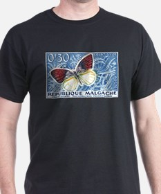 Madagascar Butterfly Stamp 1960 T-Shirt