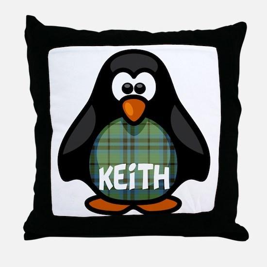 Keith Tartan Penguin Throw Pillow