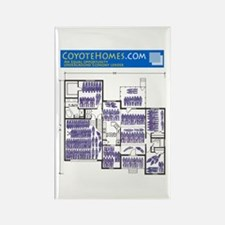 Coyote Homes Rectangle Magnet