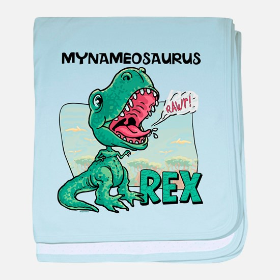Personalizable T-Rex baby blanket