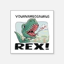 "Little T Rex Square Sticker 3"" x 3"""