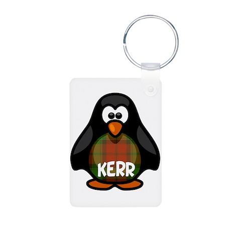 Kerr Tartan Penguin Aluminum Photo Keychain