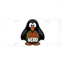 Kerr Tartan Penguin Aluminum License Plate