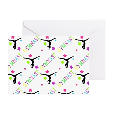 Neon Gymnast Greeting Cards (Pk of 10)