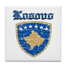 Kosovo Coat of arms Tile Coaster