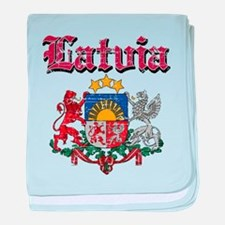 Latvia Coat of arms baby blanket