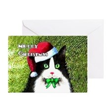Tuxedo Cat Christmas Greeting Cards (Pk of 20)