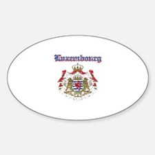 Luxembourg Coat of arms Sticker (Oval)