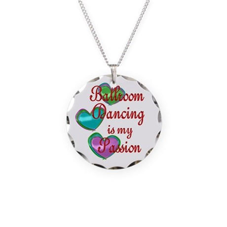 Ballroom Passion Necklace Circle Charm