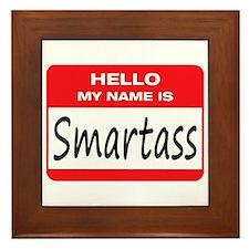 Smartass Name Tag Framed Tile