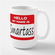 Smartass Name Tag Large Mug